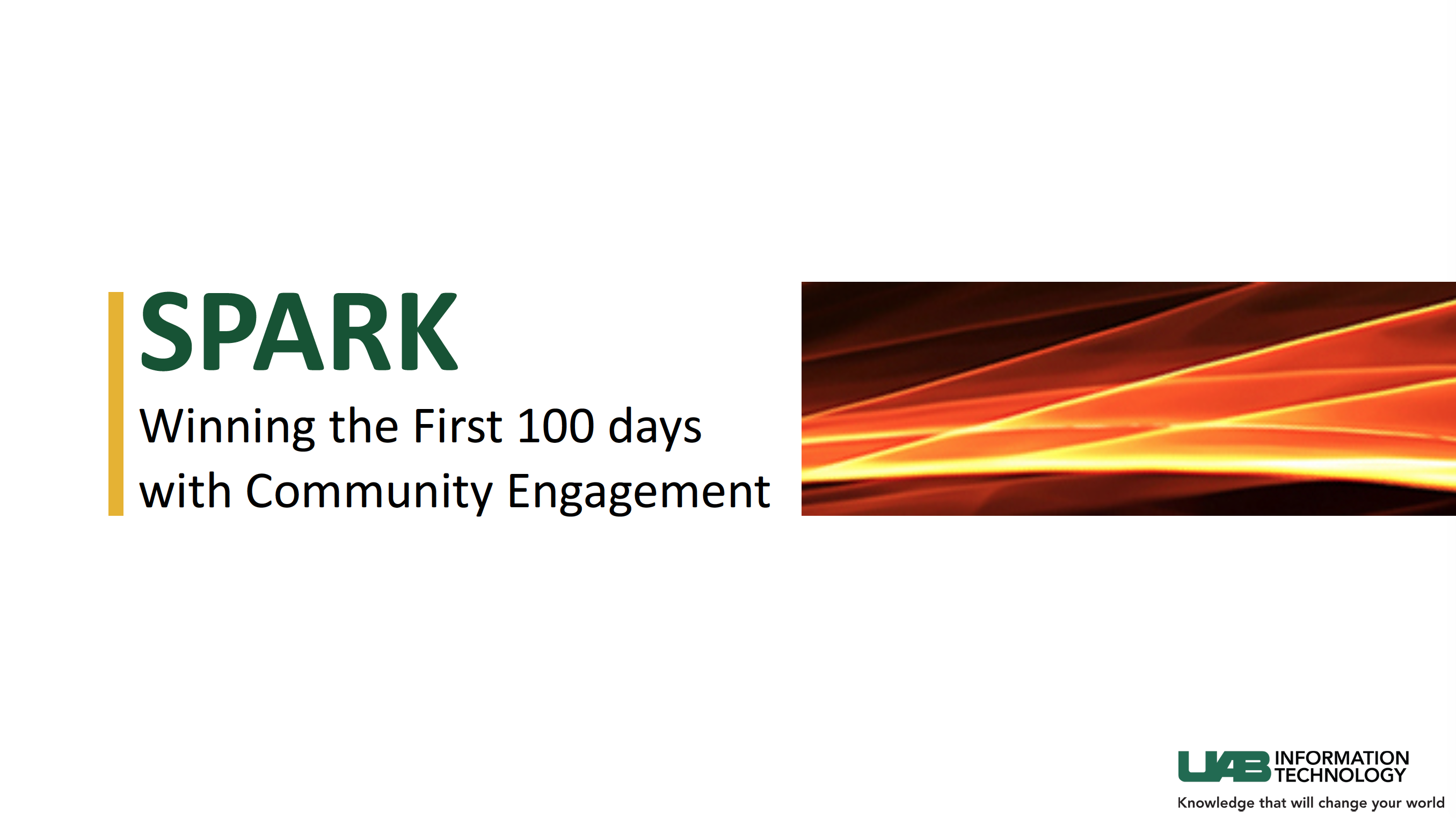 2016 Open Nation: Spark- Winning the First 100 days with Community Engagement
