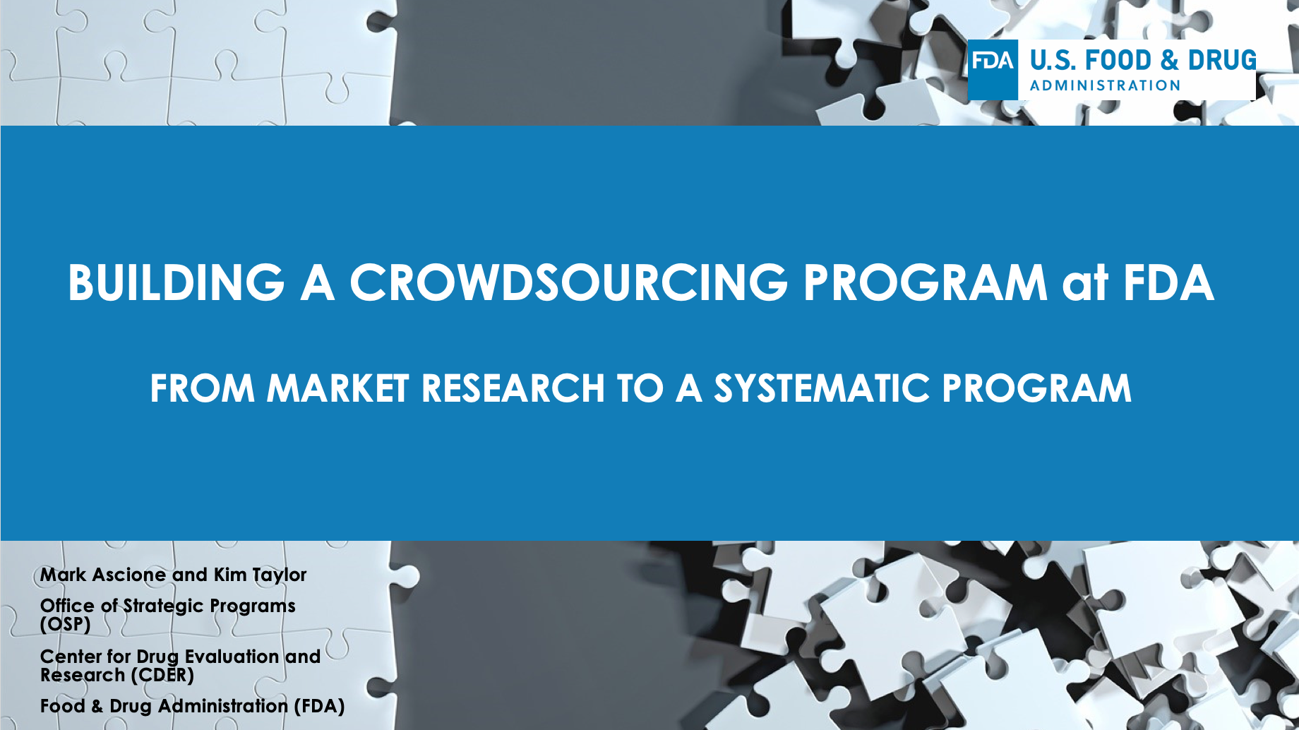 Building and Evolving a Crowdsourcing Program at FDA